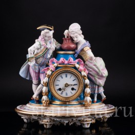 Фарфоровые часы, Франция, 19 в