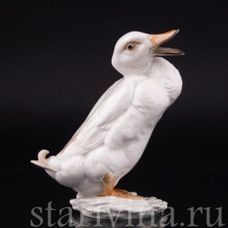 Статуэтка птицы из фарфора Селезень, Hutschenreuther, Германия, 1970 гг.