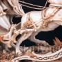 Антикварная фарфорвая композиция Дети с возком, Volkstedt, Германия, 19 в.