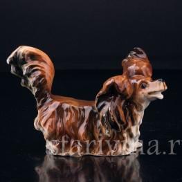Фарфорвая статуэтка Собака Длинношерстная такса, Германия,, нач. 20 в.