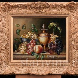 Картина маслом на фанере Натюрморт c вазой, Германия,, сер. 20 в.