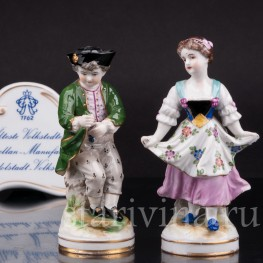 Фарфоровые статуэтки Пара, миниатюра, Volkstedt, Германия, до 1935 г.
