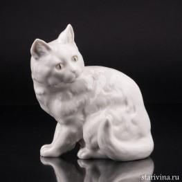 Кошка белая, сидит, Hutschenreuther, Германия, 1938-55 гг